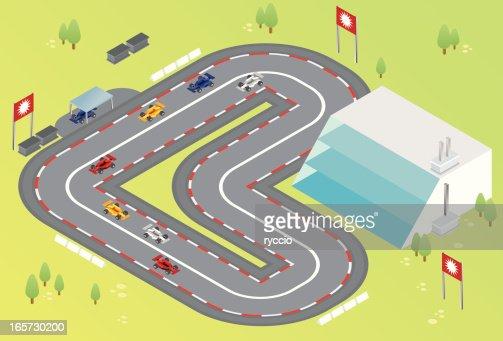 isometric formula one racing