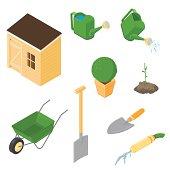 Isometric Gardening Icons