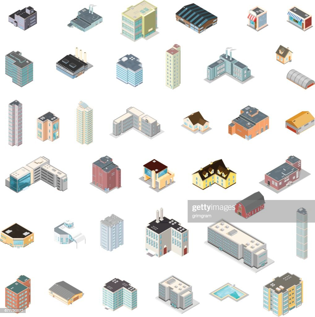 Isometric Generic Building Set.