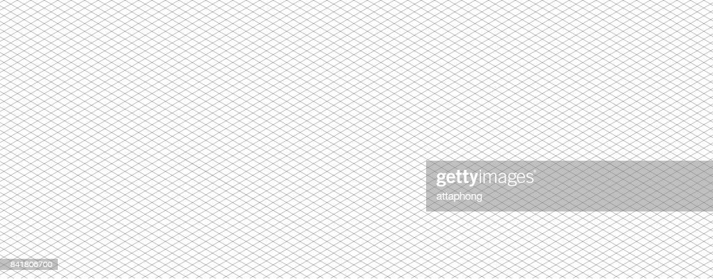 Isometric grid line vector