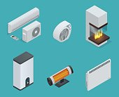 Isometric Home climate equipment