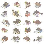 Isometric House Icons