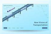 Isometric Hyperloop transport concept