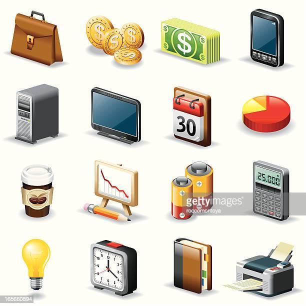 Isometric icons, Office