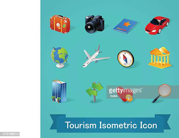 Isometric icons | Tourism