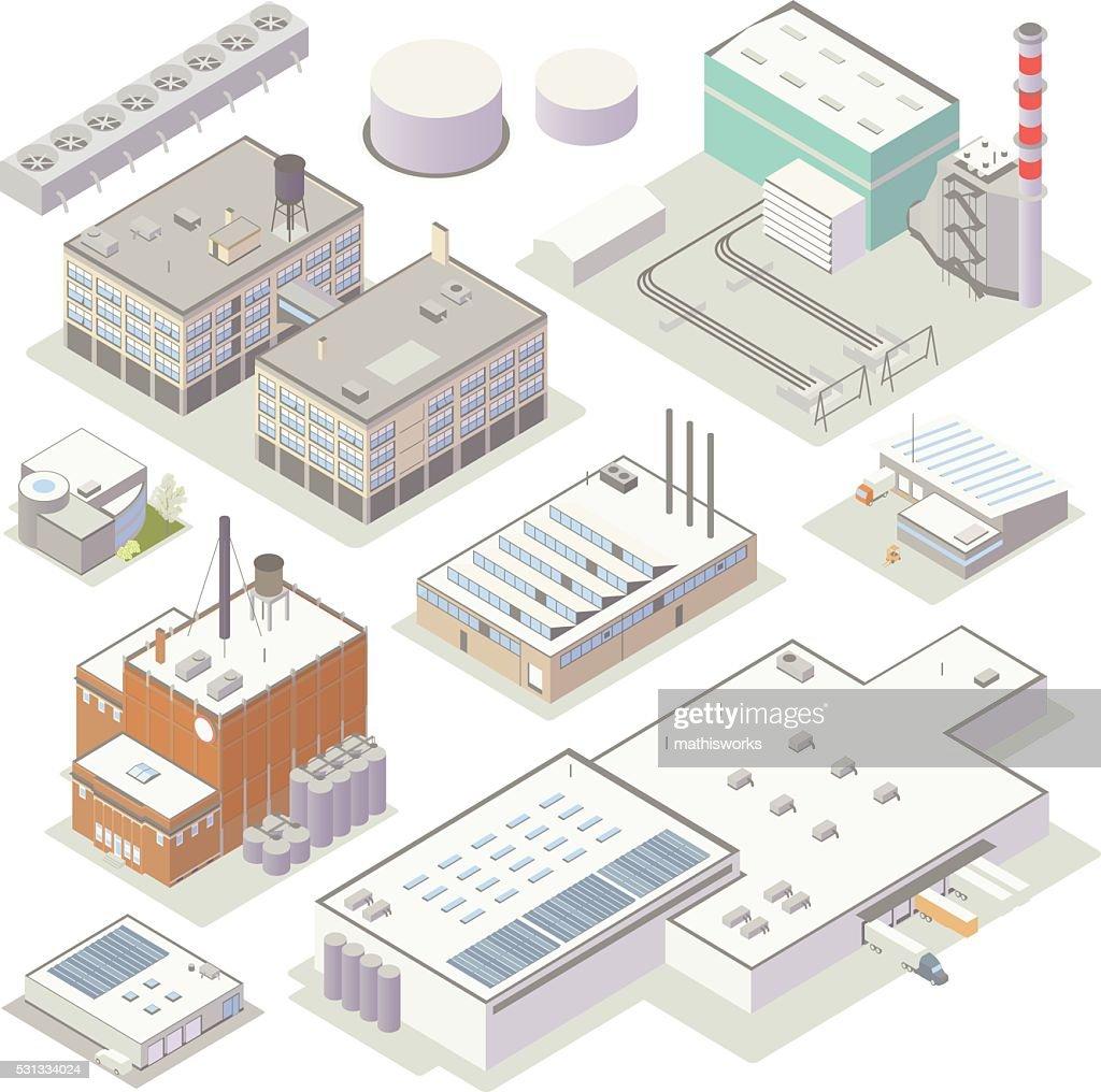 Isometric Industrial Buildings