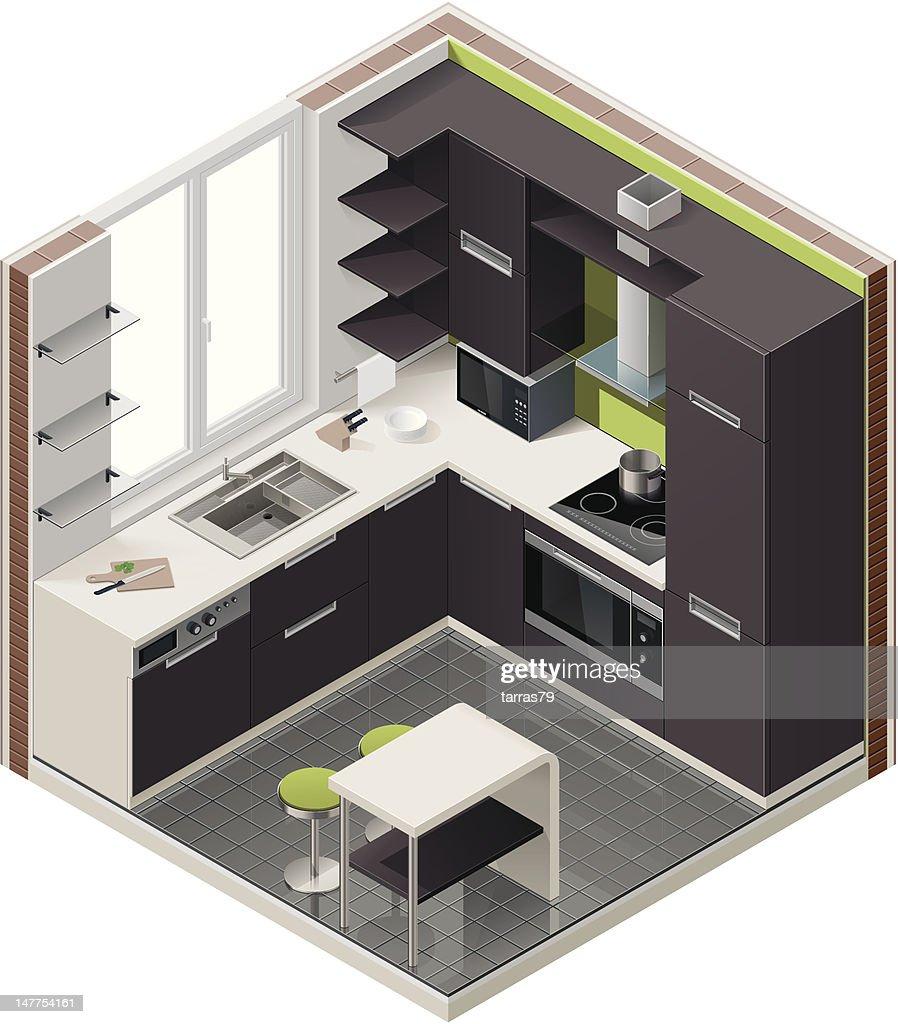 Isometric kitchen icon
