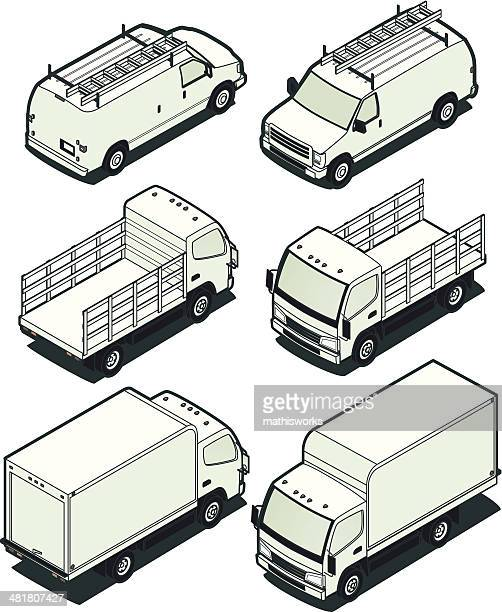 Isometric Light Trucks