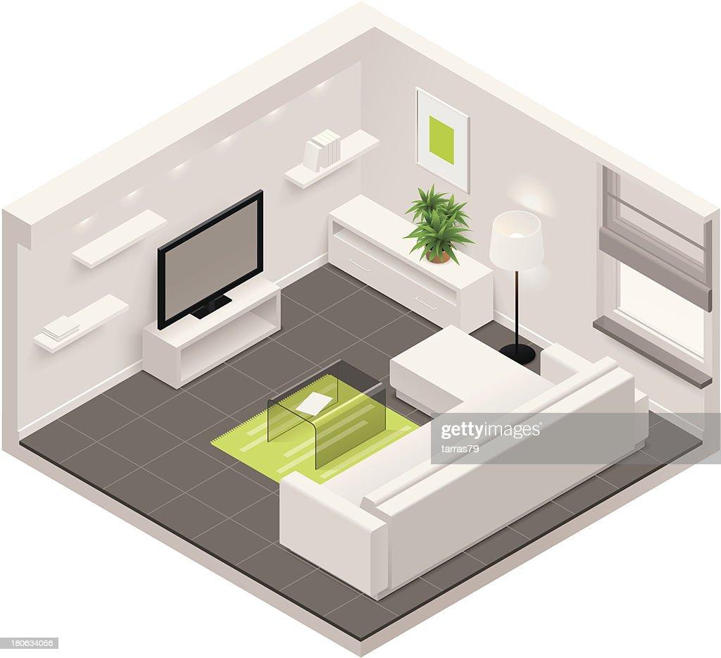 Isometric living room icon