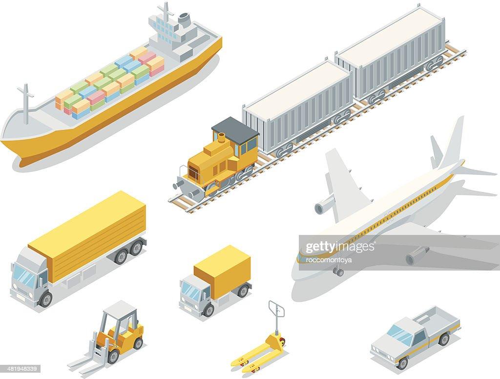 Isometric Logistic : stock illustration