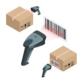 Isometric manual scanner of bar codes