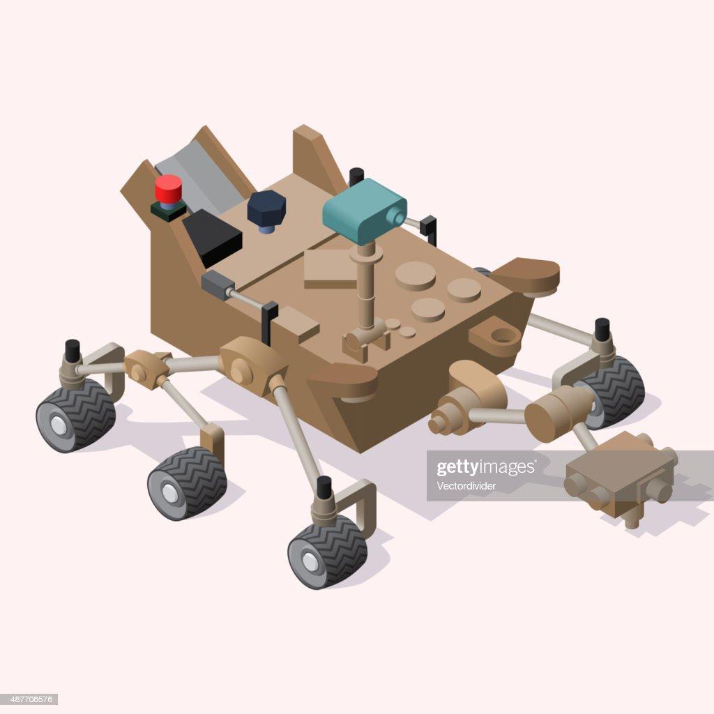 Isometric Mars Rover