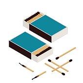 Isometric Matches and matchbox