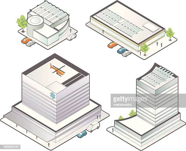 Isometric Medical Buildings