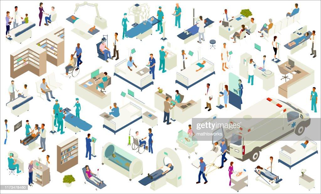 Isometric Medical Icons : stock illustration
