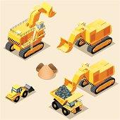 Isometric, Mining machinery