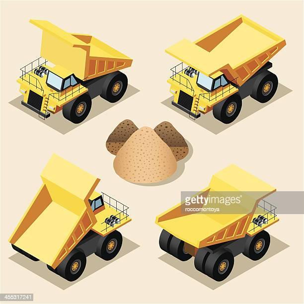 Isometric, Mining truck