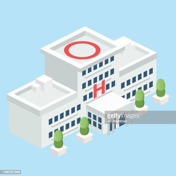 等尺性モジュラー病院 - 病院点のイラスト素材/クリップアート素材/マンガ素材/アイコン素材