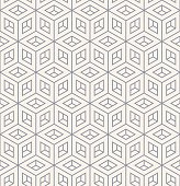 isometric monochrome cube pattern.