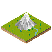 Isometric Mountain Range-Vector isometric