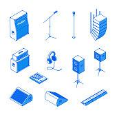 Isometric music equipment 2
