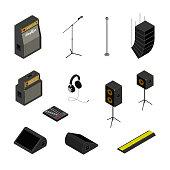 Isometric music equipment