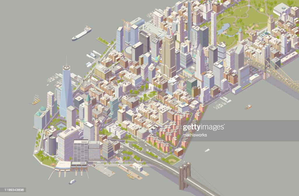 Isometric New York : stock illustration