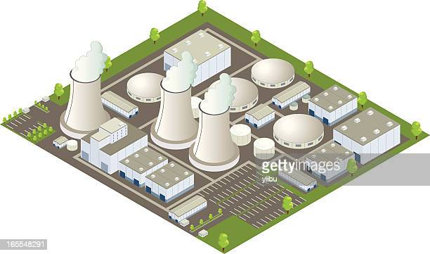 Isometric nuclear power plant