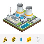 Isometric nuclear power station, reactors, energy generation related facilities