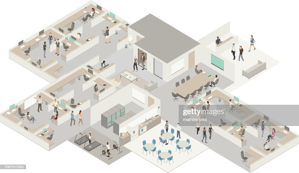 Isometric office : stock illustration