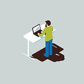 Isometric office worker