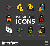 Isometric outline icons set 32