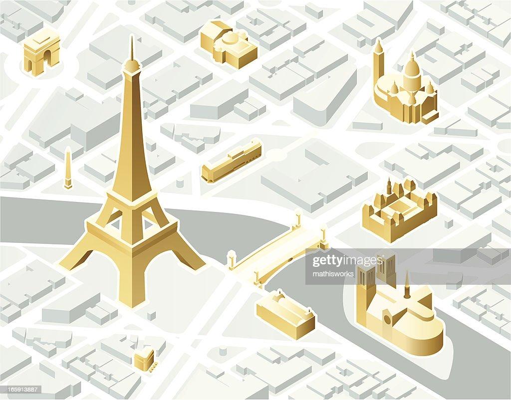 Isometric Paris : stock illustration