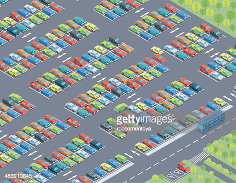 Isometric, Parking Lot