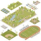 Isometric Parks Illustration