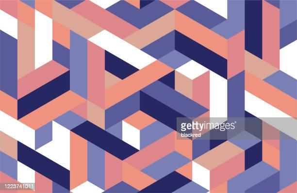等角投影パターンデザインの背景 - 装飾美術点のイラスト素材/クリップアート素材/マンガ素材/アイコン素材