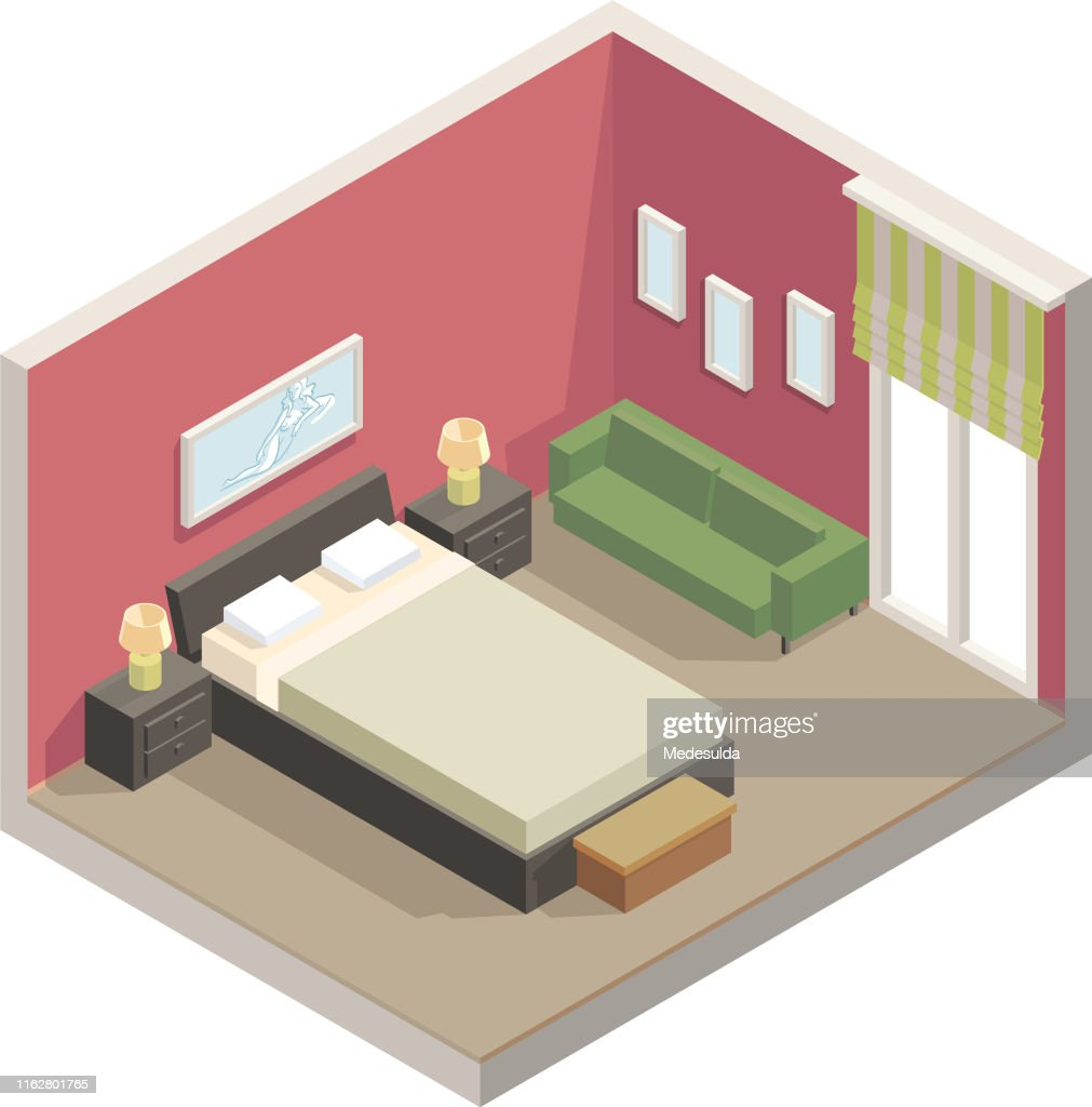 Isometric Perspective Bedroom High Res Vector Graphic Getty Images