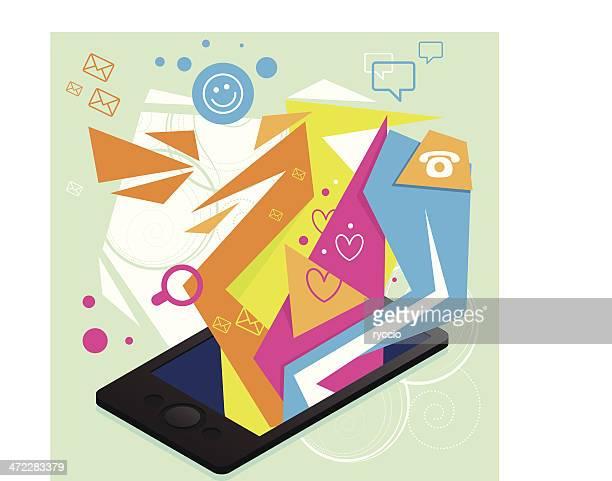 Isometric phone graphics