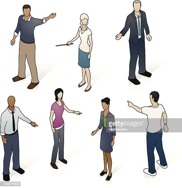Isometric Pointing People