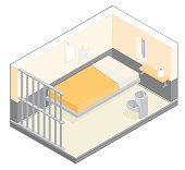 Isometric Prison Cell