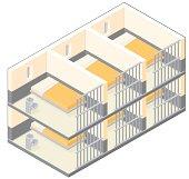 Isometric Prison Cells