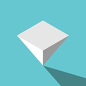 Isometric pyramid upside down