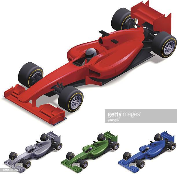 isometric racing car - race car stock illustrations, clip art, cartoons, & icons