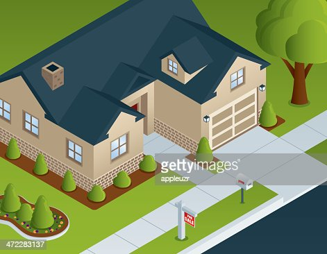 Isometric Residential House