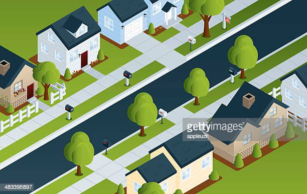 Isometric Residential Street