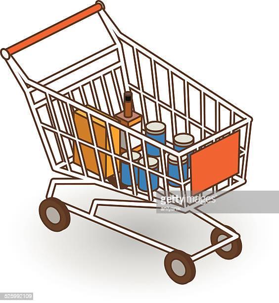 isometric shopping cart