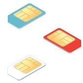 Isometric Sim card