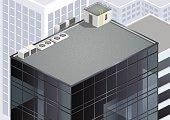 Isometric skyscraper roof