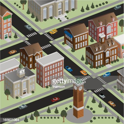 Isometric Small Town
