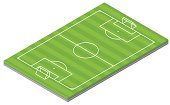 Isometric Soccer Pitch